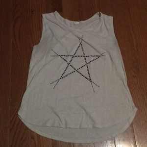 Star patterned tank top